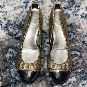J. Crew Glitter Jacquard Ballet Flats 9.5